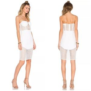 NBD x REVOLVE S White 4AM Caged Bustier Dress